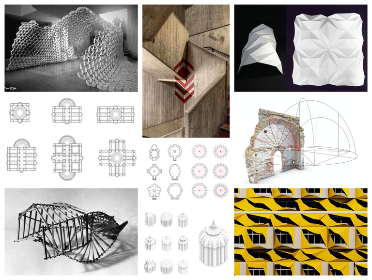 Copyrights: Deena El Mahdy; Marco Hemmerling; Ayçe Döşemeciler; Athanassios Economou; Ana Lopez-Moza; Archive of the Laboratory of Architectural Bionics, Moscow – Dmitri Kozlov; Federico A. Garrido; Liss C. Werner